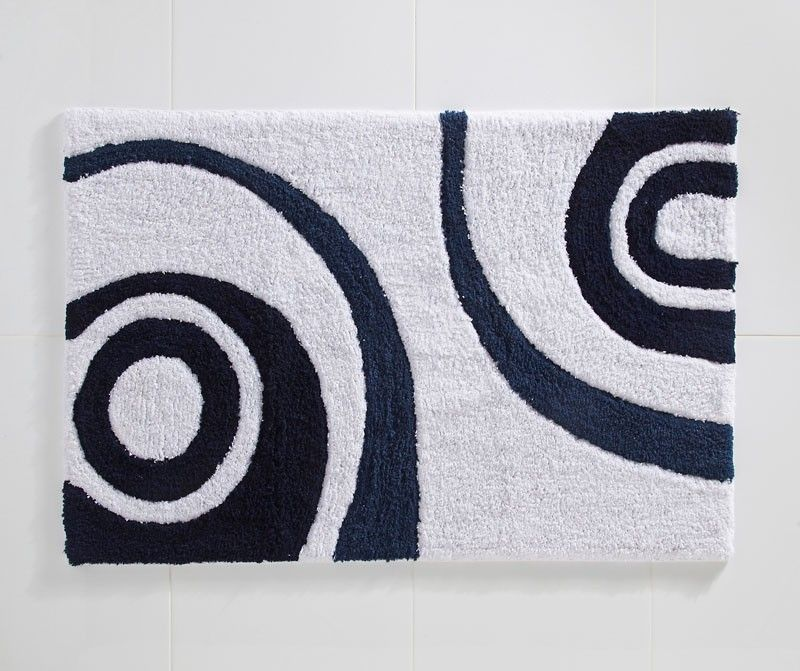 Cosmic Bath Mat Blue White Rubber Backed Bath Mats At Bedeck