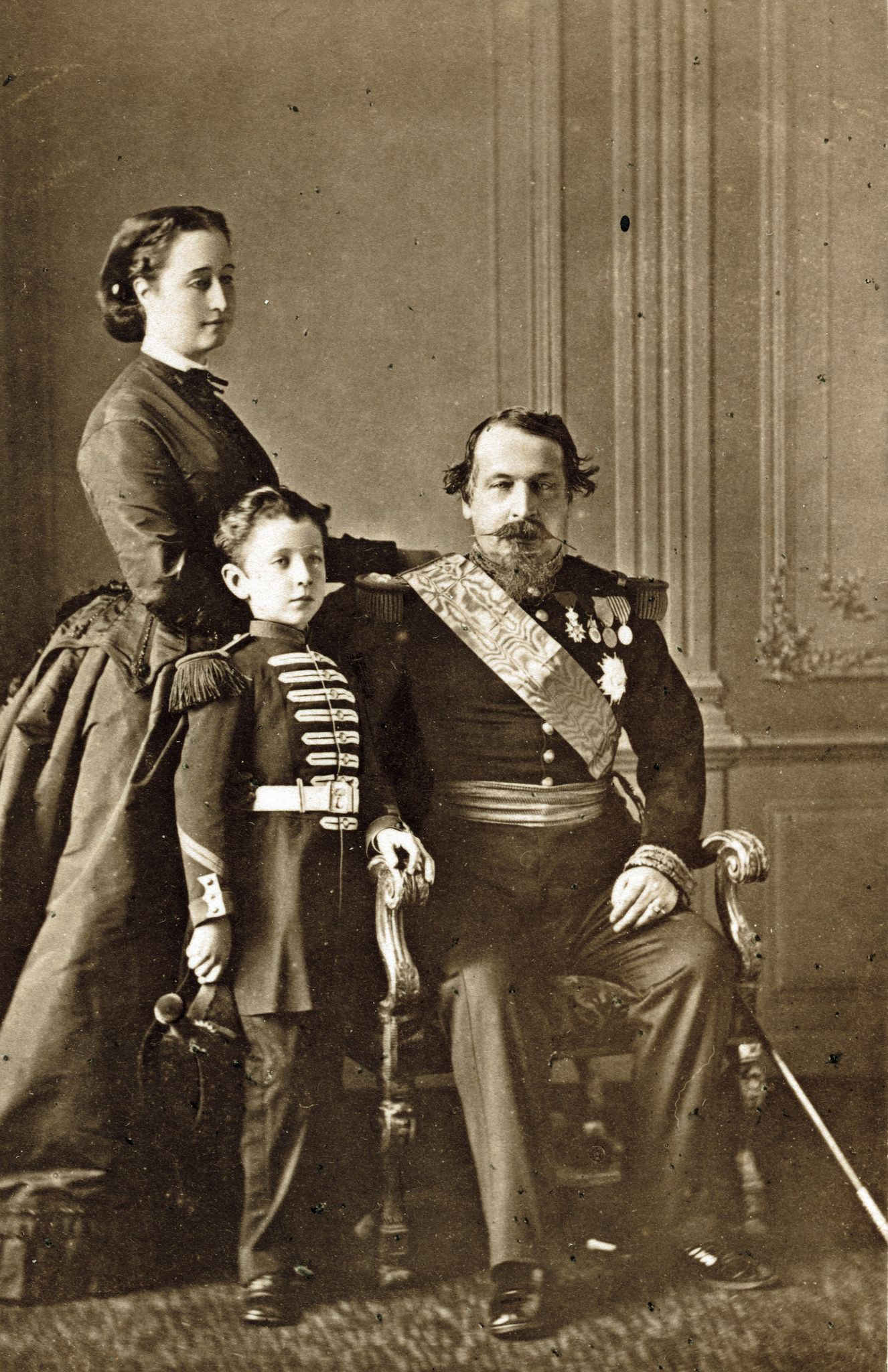 Serge Lovich Levitsky - Emperor Napoleon III and Family, 1860