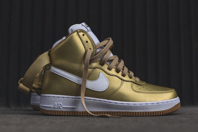 Don't Miss Out On The Nike Air Force 1 High Metallic Gold