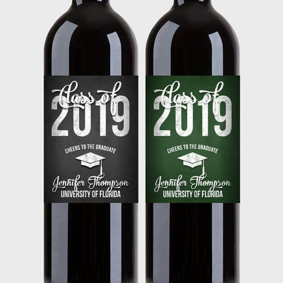 Graduation Party Wine Bottle Labels Customized Class Of