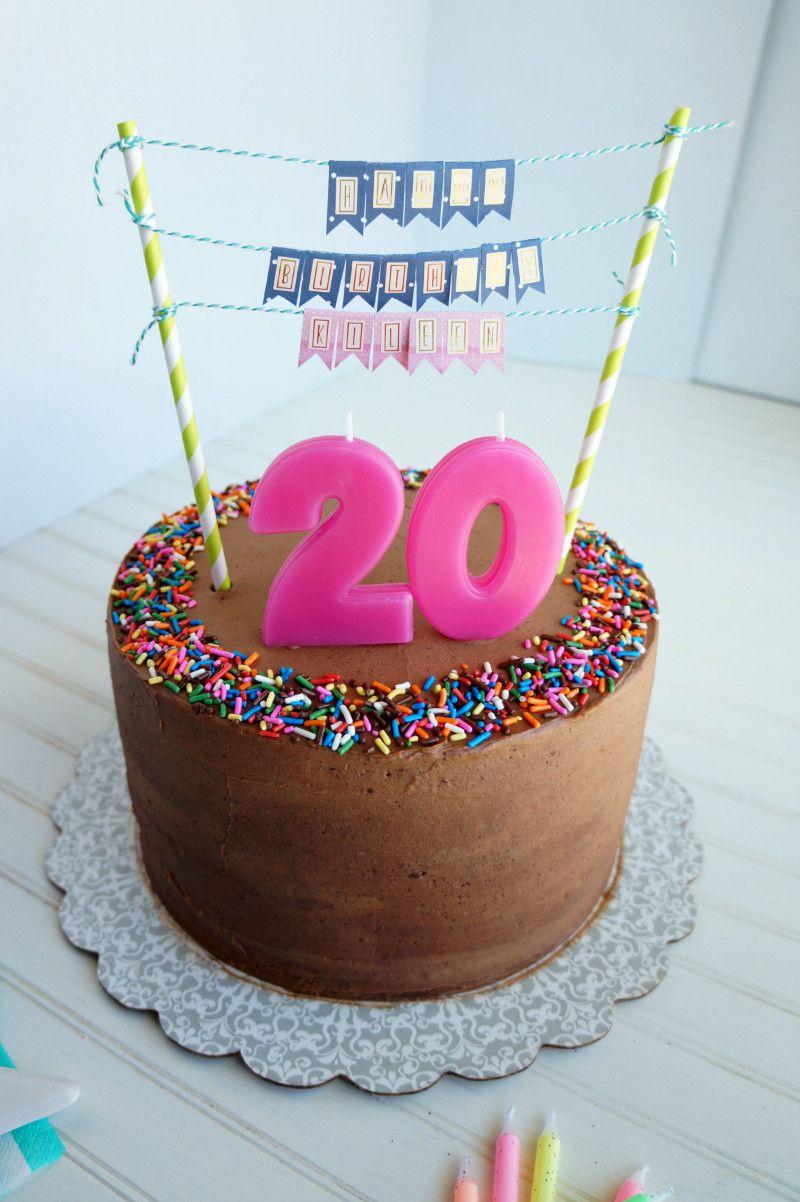 20th birthday chocolate confetti cake.Top 20 20th Birthday