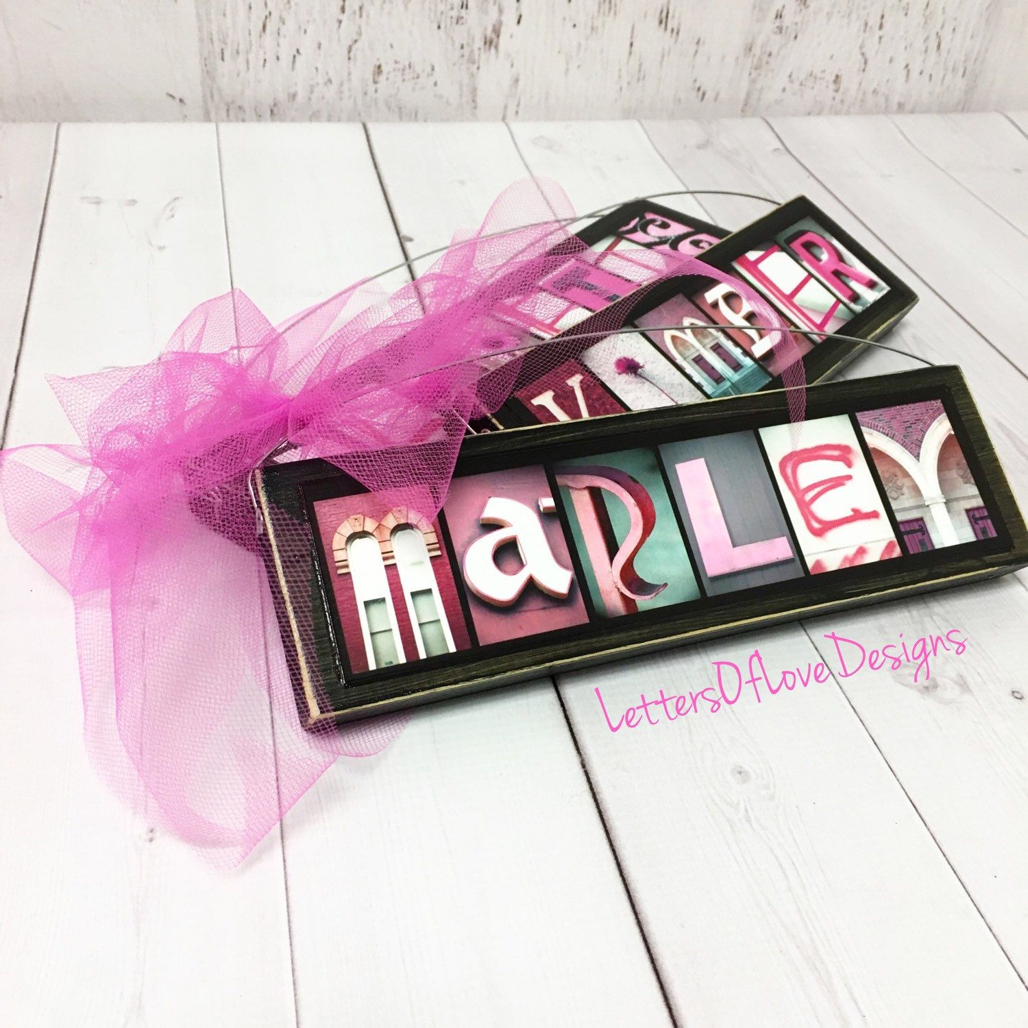 Flower Girl Gifts, Girl Name Sign, Wedding Signs, Personalized ...
