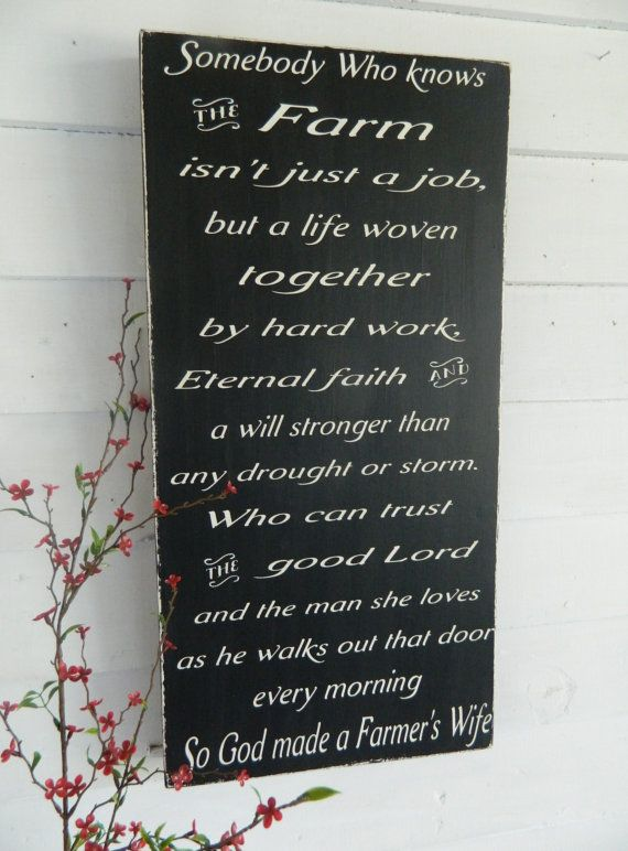 So God Made A Farmer S Wife Sign 12x24 Black And White Distressed Great Christmas Gift On Etsy 54 00 Farmer Wife Farmer Farm Decor