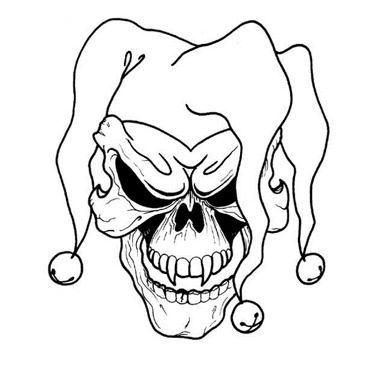 image regarding Printable Skull Stencils called Absolutely free Printable Skull Tattoo Types Joker Skull Tattoo Below