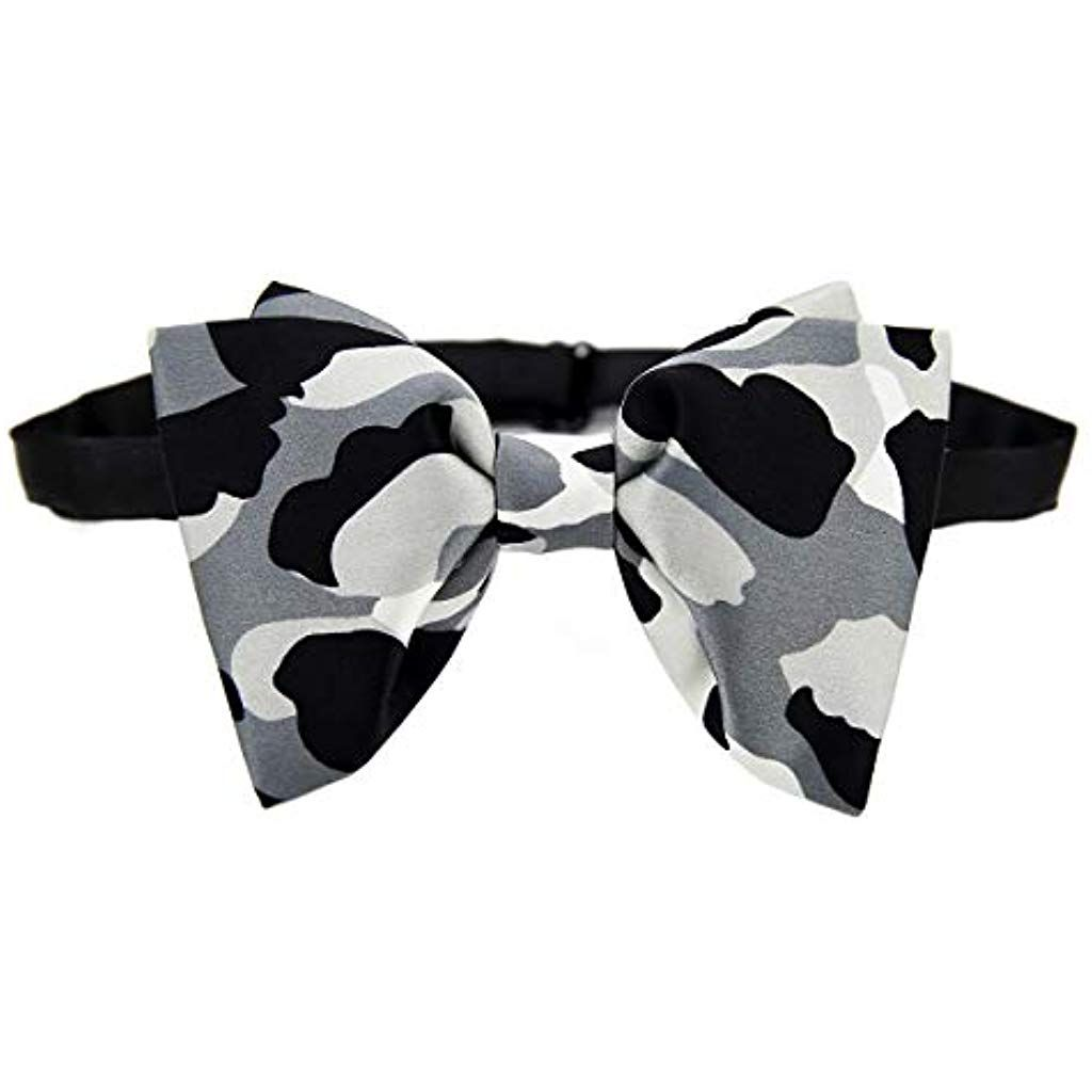 by DEVEMNU HOMME Mens Fashion Floral Pattern Pre-tied Bowtie Satin Silk Bow Ties for Formal