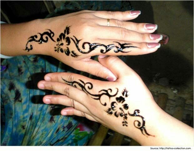 Mehndi Tattoo For Hand : Simple design henna hand tattoos pinterest designs