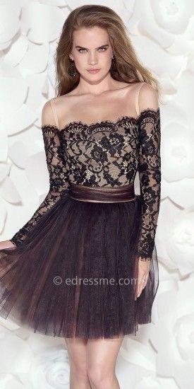 Valerie off the shoulder cocktail dress  #edressme