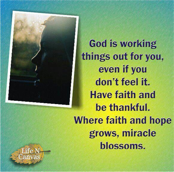 God is working things out for you