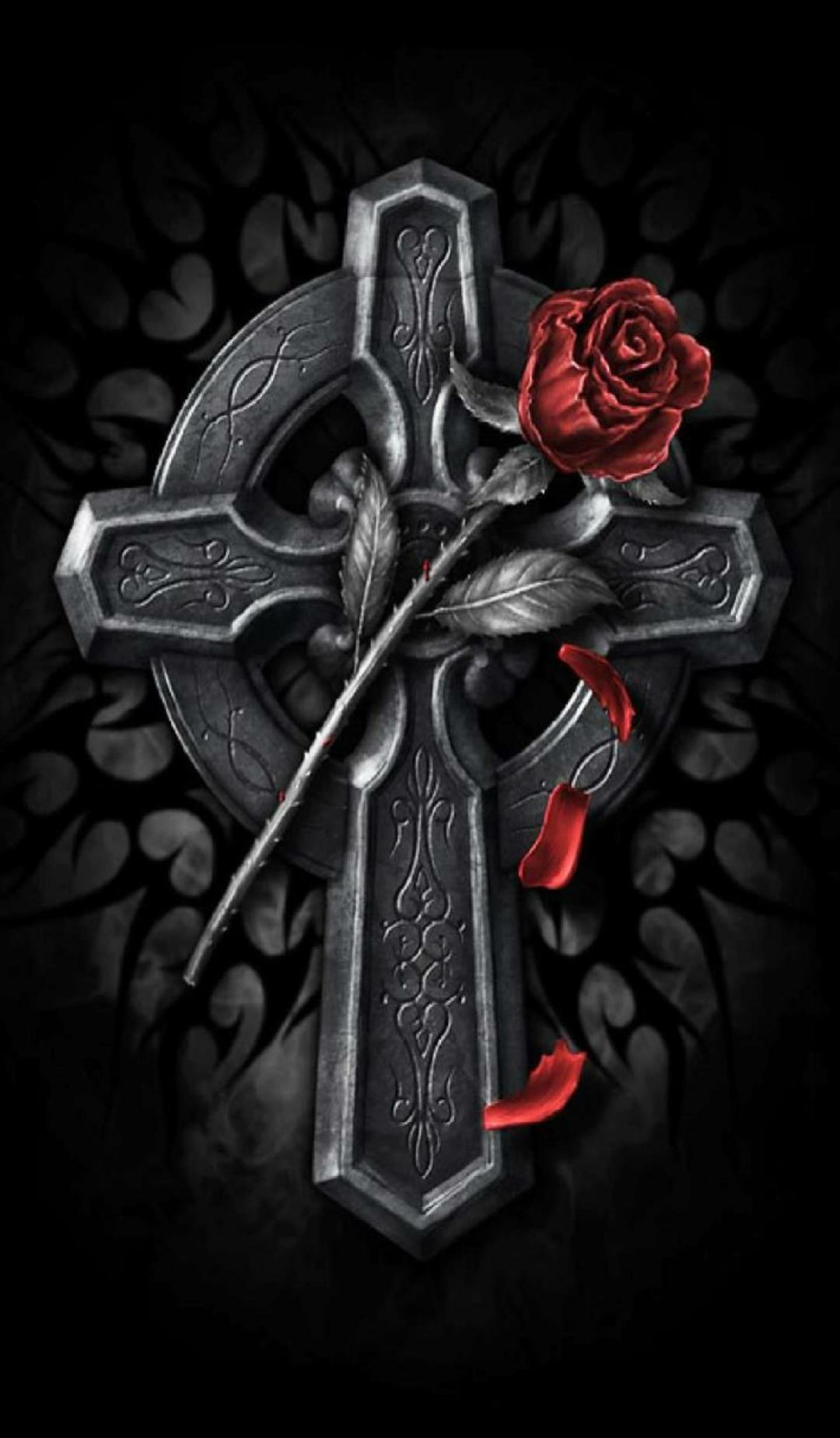 Dark rose crosses pinterest rose dark and gothic - Gothic hintergrundbilder ...