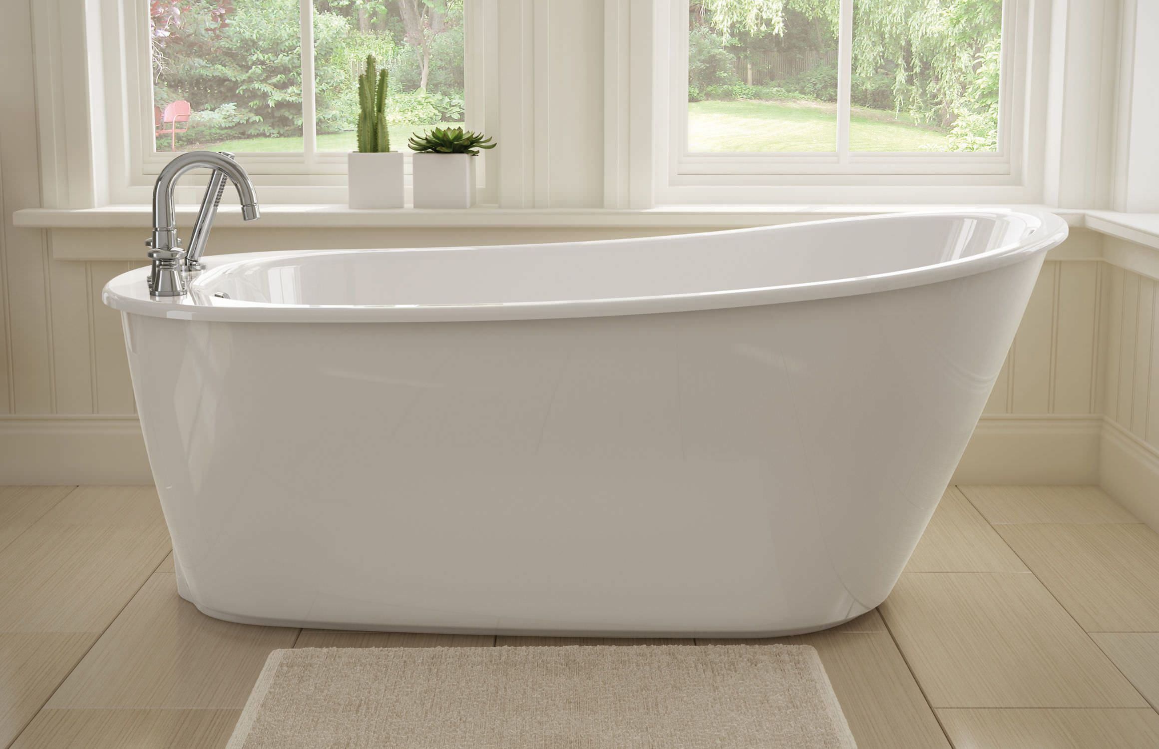Freestanding Tub With Deck Mount Faucet Free Standing Bath Tub