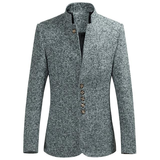 Mens Single Breasted Jacket Blazers Coat Hot Business Dress Outwears Size Plus #