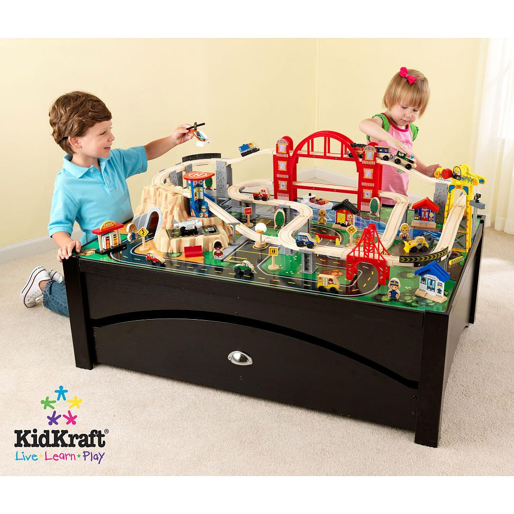 KidKraft Boys Metropolis Train Table Set -Toys  R  Us 49.5 x ...  sc 1 st  Pinterest & KidKraft Boys Metropolis Train Table Set -Toys