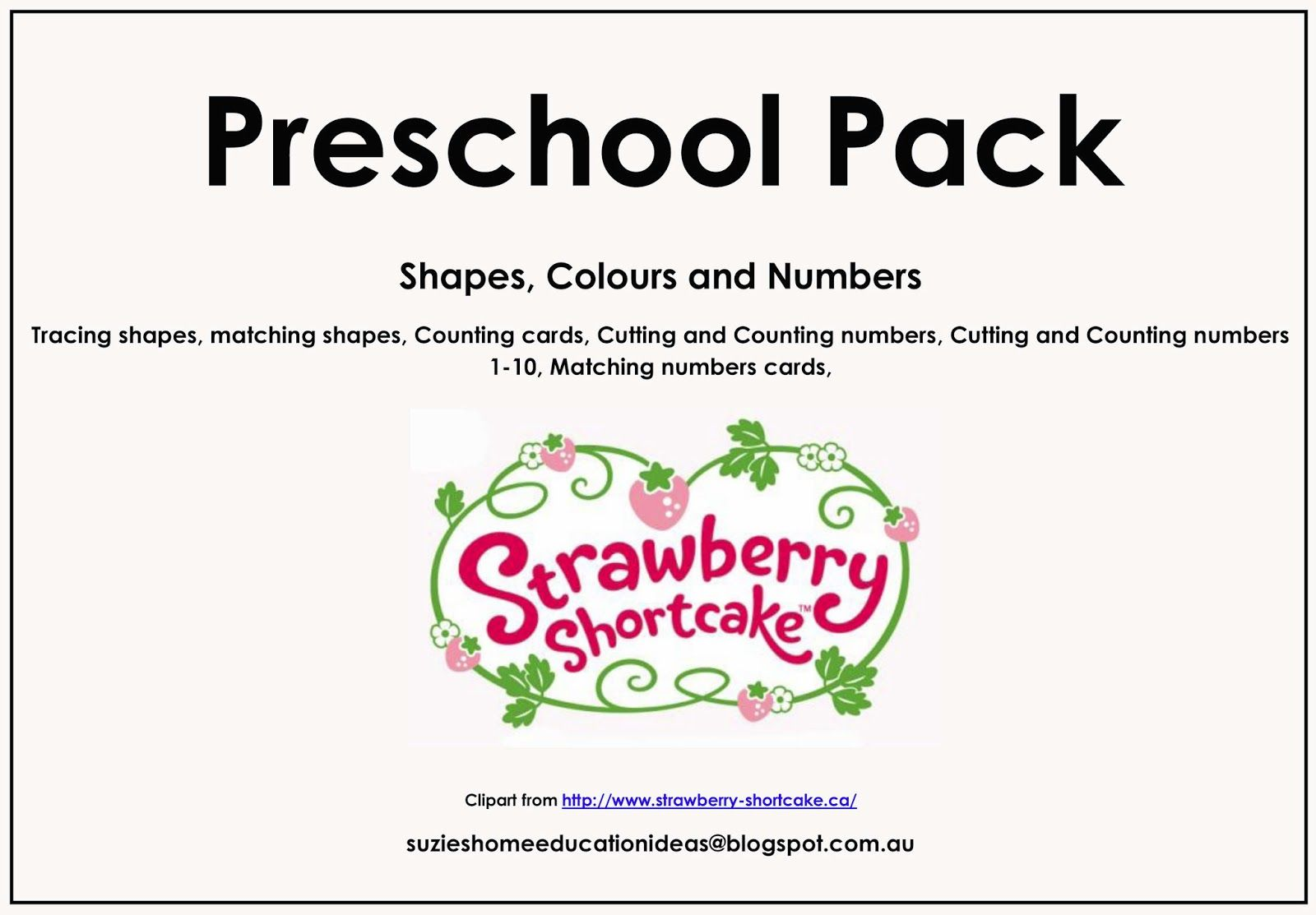 Strawberry Shortcake Printable Pack