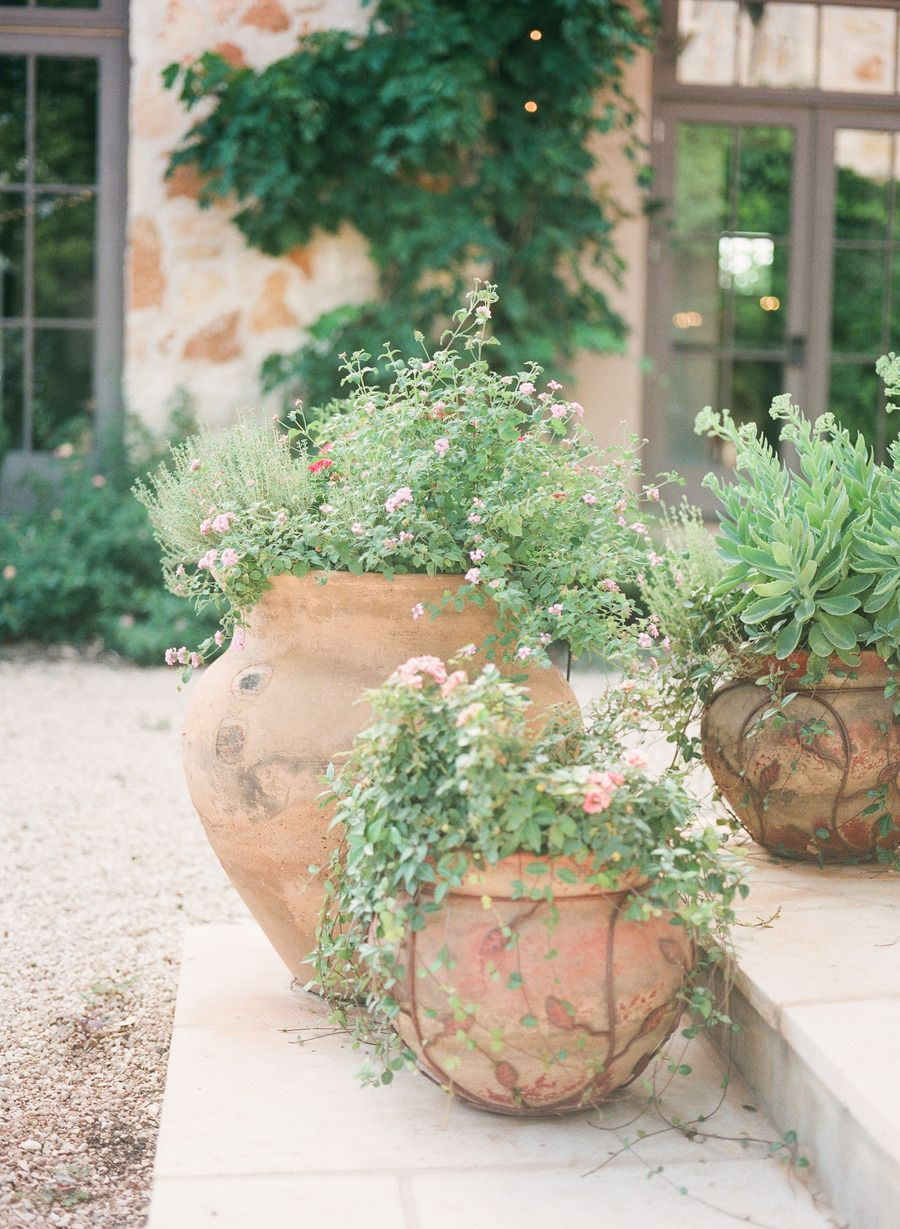 Tuscan Wedding Inspiration At The Vineyard At Florence Flower Pots Front Door Plants Shade Flowers