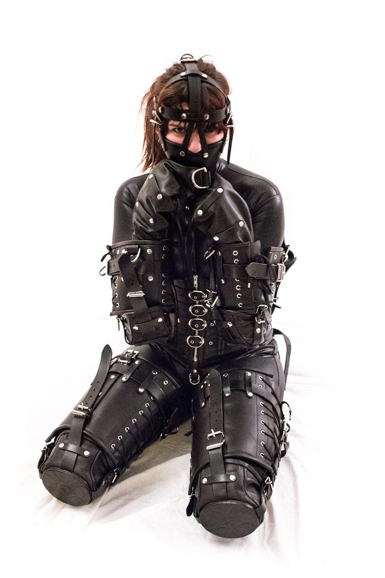 Leather bondage suit