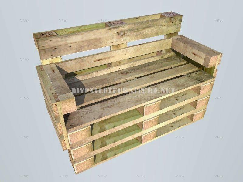 Muebles de palets Como hacer un banco con palets paso por paso