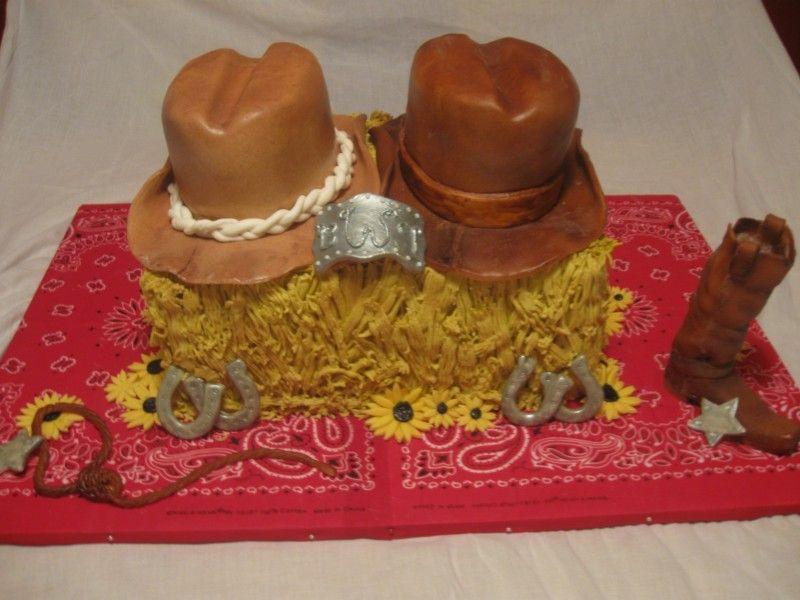 Western Theme Cake for Bridal Shower | Western Bridal ...