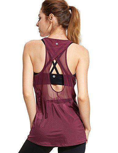 ZJCTUO Femmes Sports Tops Yoga Dos Nu D/ébardeur Fitness Entra/înement S/éance Dentra/înement L/âche Chemise Dry Gym Tops
