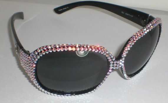 7a4bef52e3ee3 Custom Swarovski Crystal Sunglasses for DM by FoxyAllureJewelry