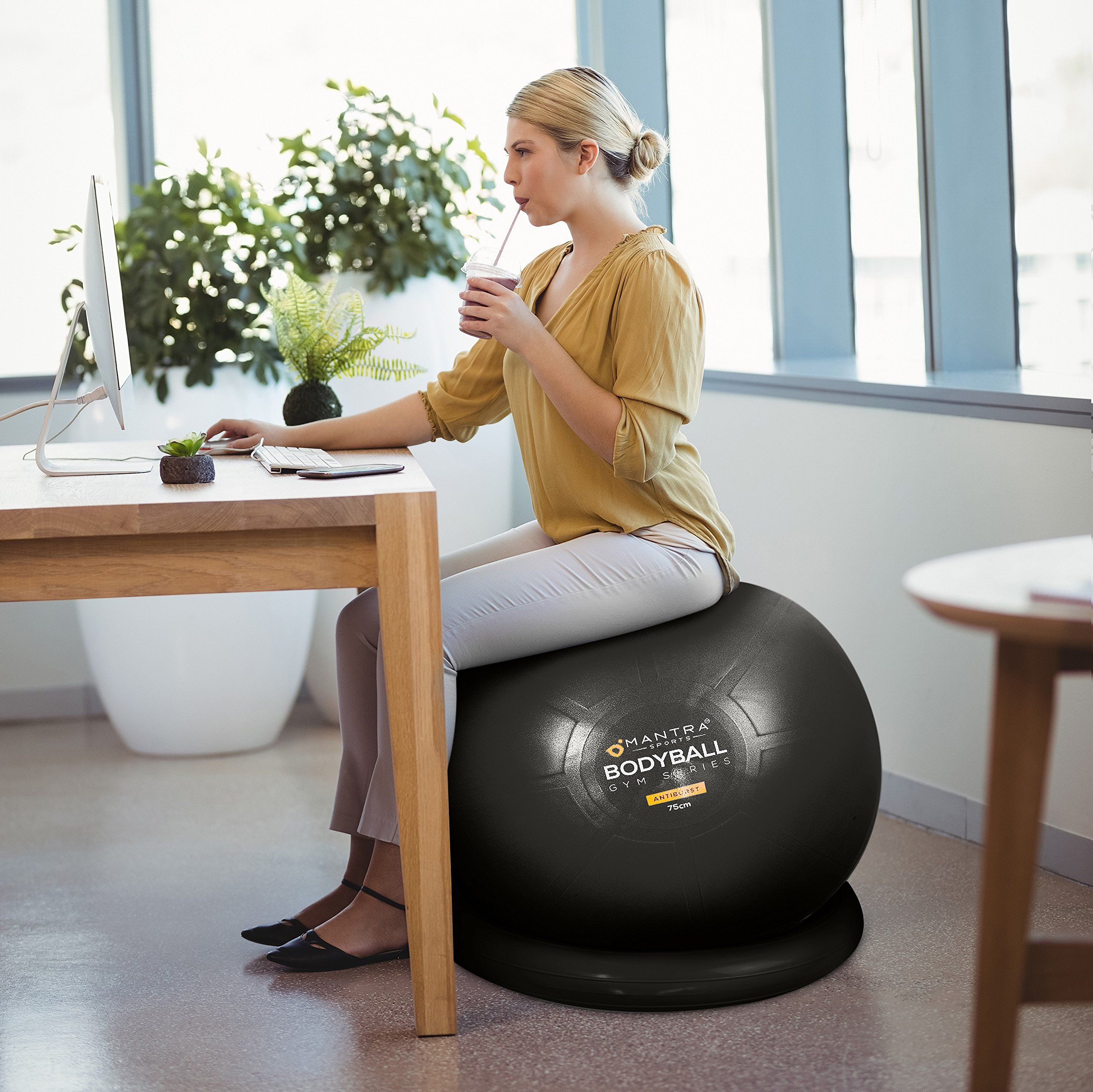 Pilates Ball Chair Exercise Ball Chair 65cm And 75cm Yoga Fitness Pilates Ball And