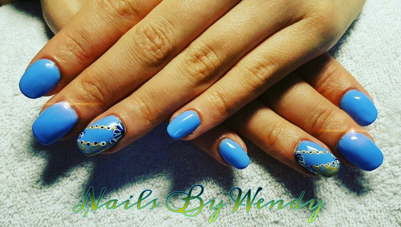 Acryl op eigen nagel met gelpolish bleuberry emotions en op de ...