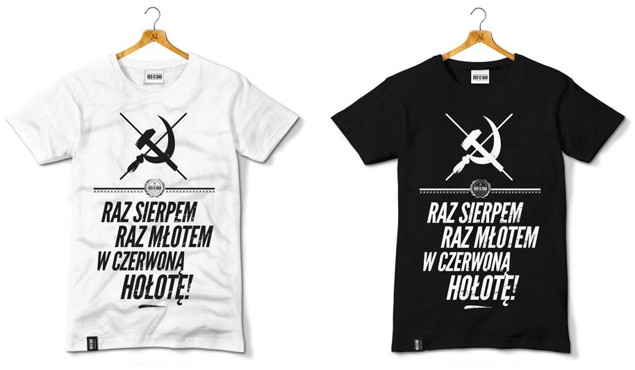Raz Sierpem Raz Młotem W Czerwoną Hołotę Mens Tops Mens Tshirts Mens Graphic