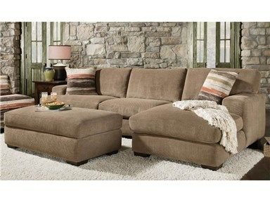 Meade Mocha Sectional With Ottoman Corinthian 351705 At Furniture Fair In Cincinnati Oh And Northern Ky