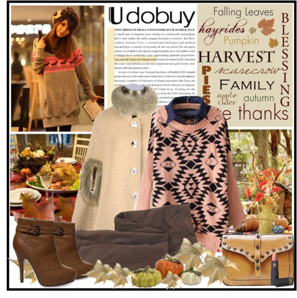 """Thanksgiving with Udobuy !"" by fantasy-rose ❤ liked on Polyvore"