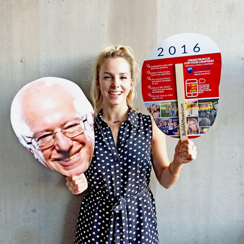 Bernie sanders cardboard and foam big head cutouts