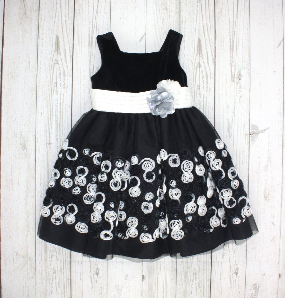 Bloome De Jeune Fille 4t Childrens Clothes Black N White Dress Fashion [ 1024 x 982 Pixel ]