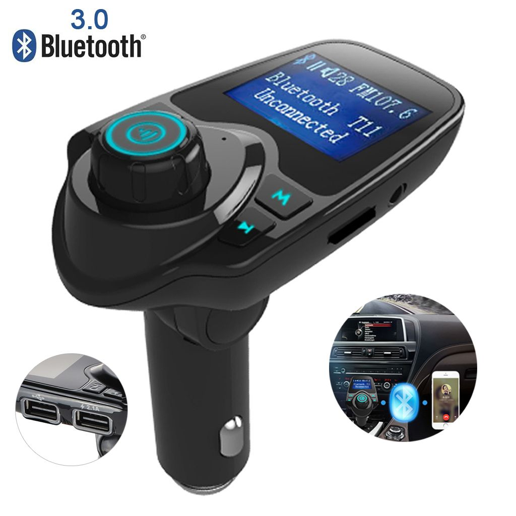 T11 fm transmitter wireless in car bluetooth receiver stereo radio adapter car kit