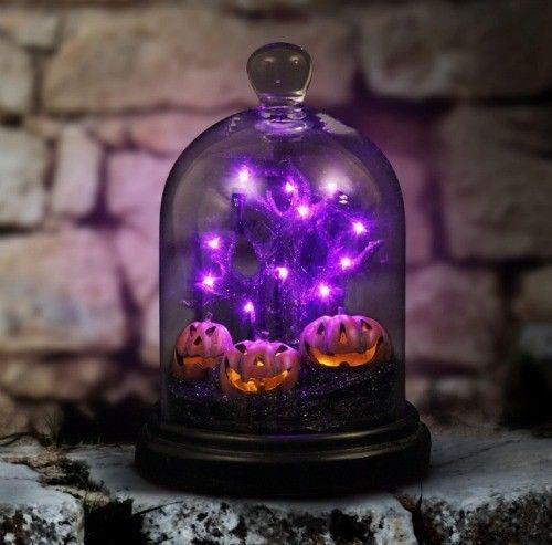 Halloween Decor Light Up Dome Spooky Pumpkins LED Display 10\