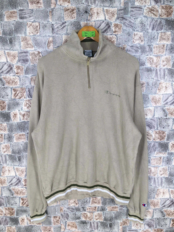 champion half zip sweater vintage