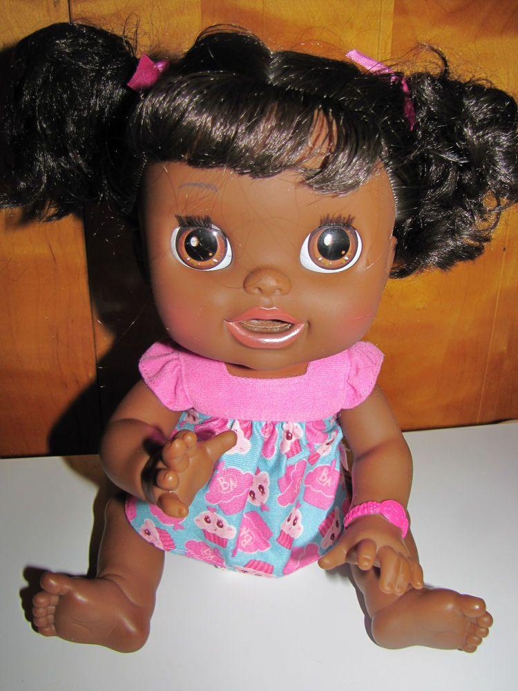Hasbro Baby Alive Real Surprises Doll Black African American Talks Eats Poops Baby Alive Black African American African American