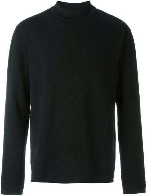 Oversized Mock Neck Sweatshirt Black