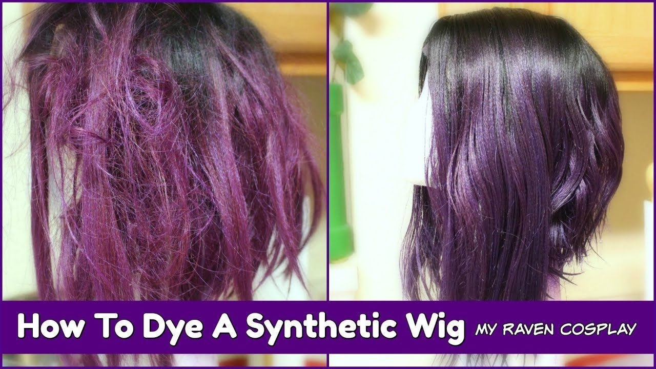 How To Dye A Synthetic Wig Using Rit Dye My Raven Cosplay Synthetic Wigs Wigs Synthetic Hair