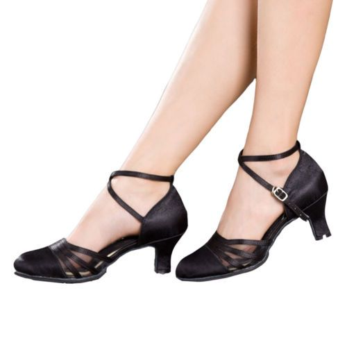 1668c7bd2b NEW-Women-Ladies-Satin-Prom-Tango-Ballroom-Latin-Salsa-Dance-Shoes-Heels-2Colors.  Encontre este Pin e muitos outros na pasta Sapatos de ...