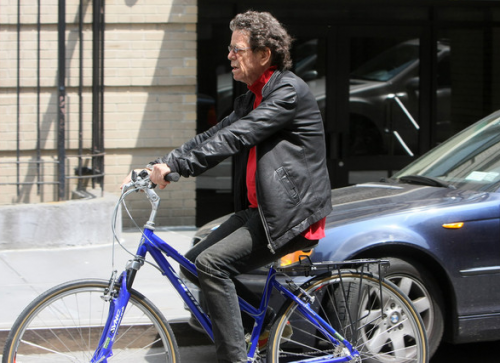 Lou Reed rode a bicycle