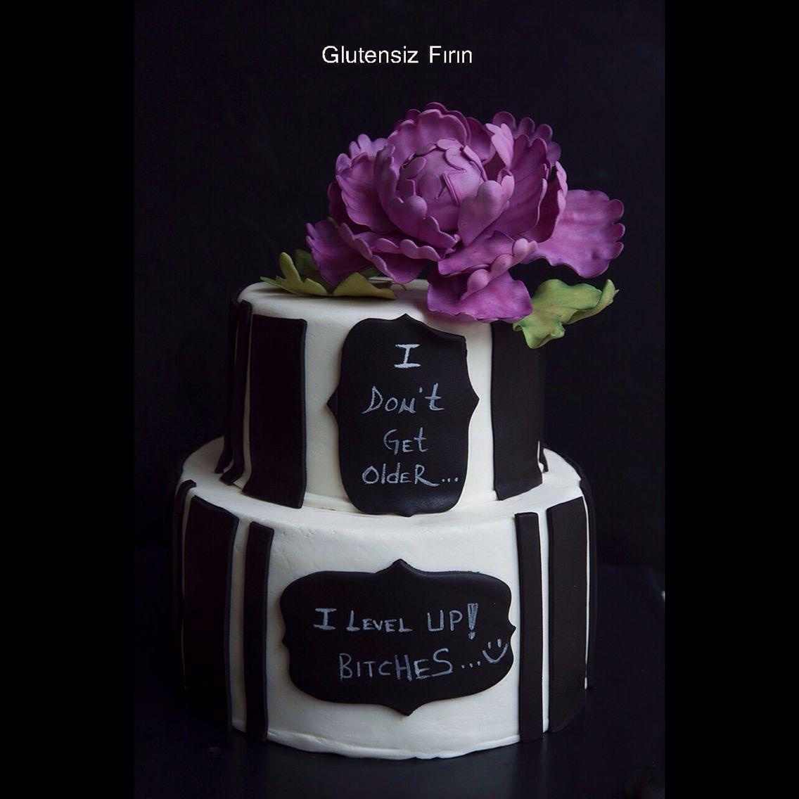 Glutenfree peony cake
