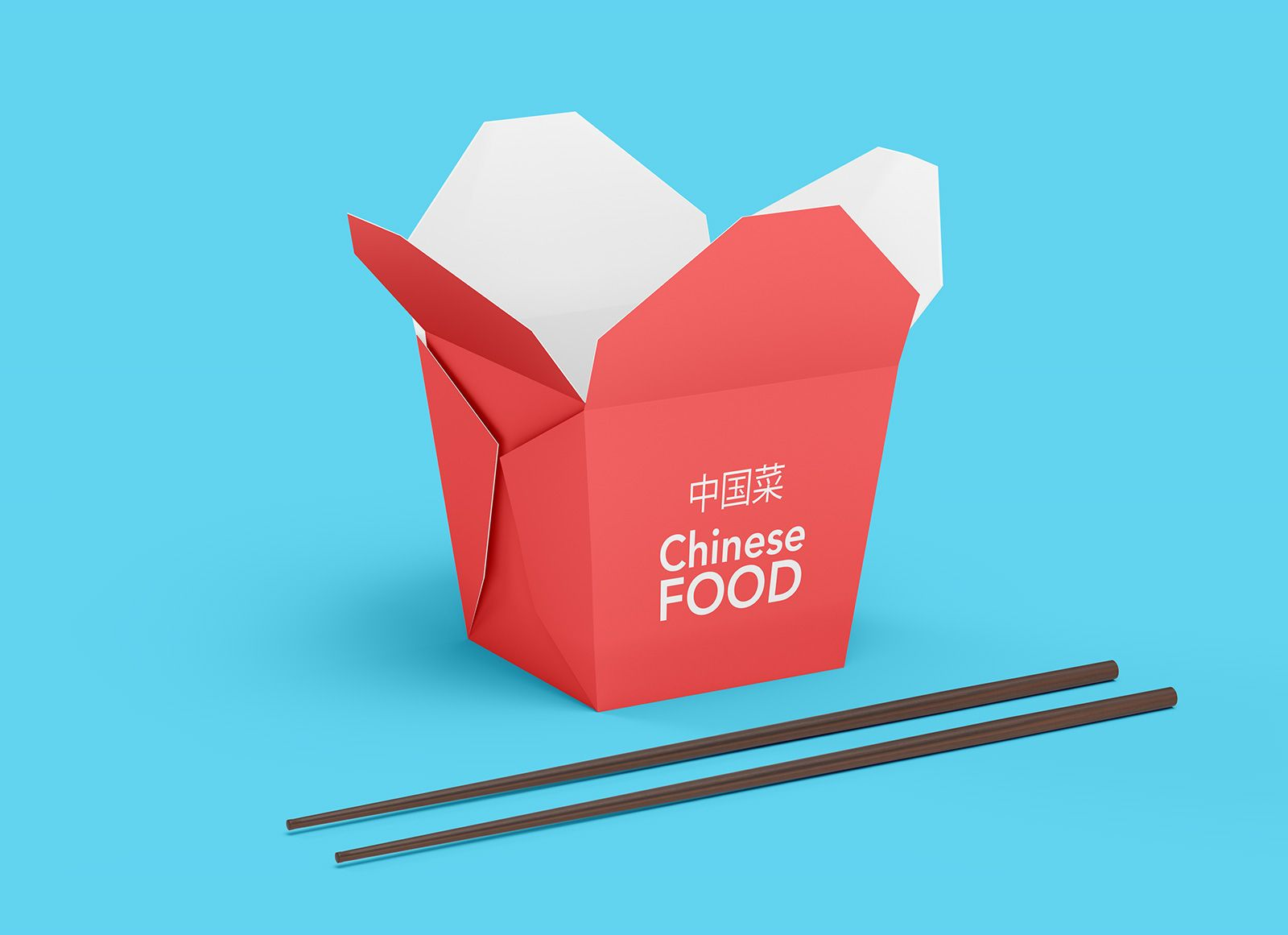 Download Free Chinese Food Box Takeout Container Mockup Psd Set Wadah Ayam Mie