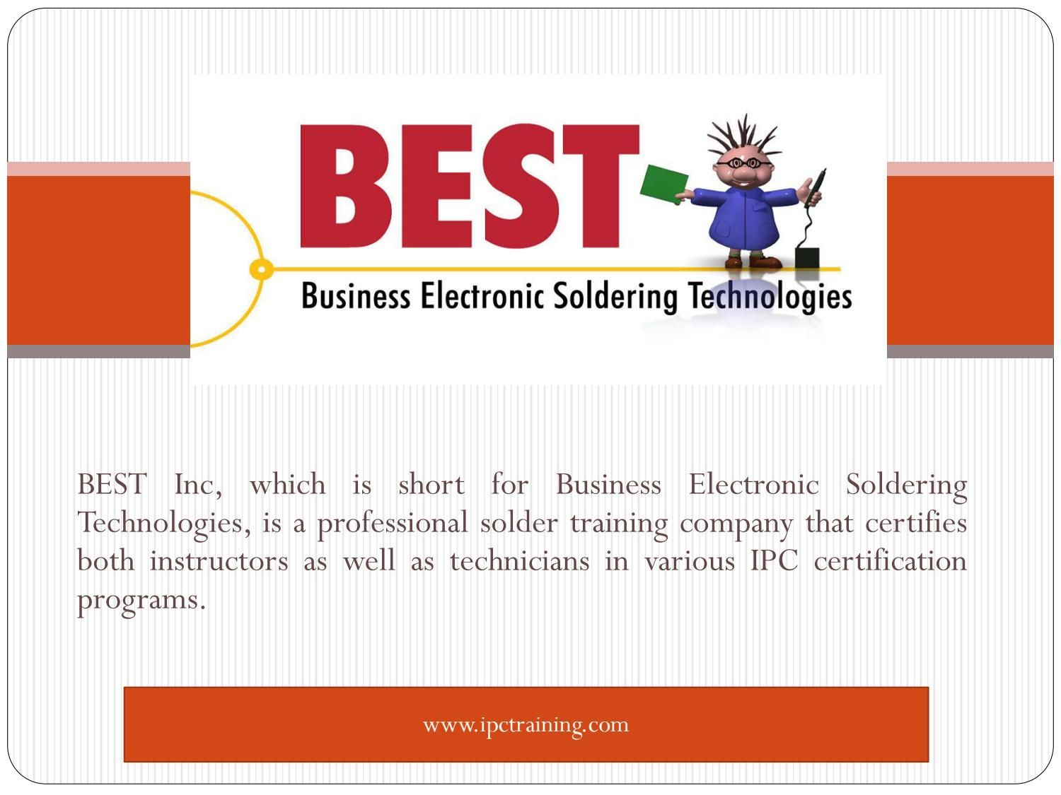 Ipc Training And Solder Certification Courses Ipc Training And