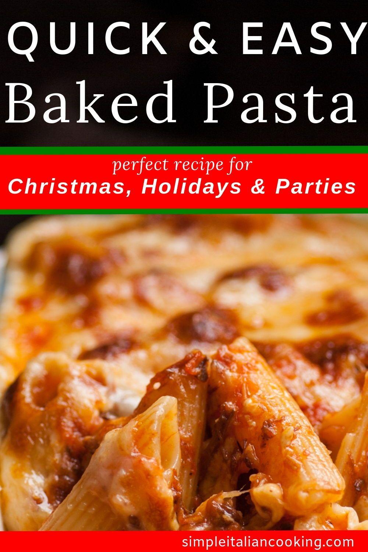 Photo of Easy Italian Baked Pasta Italian Recipe!