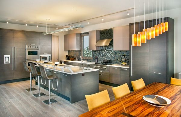Fifty Shades Of Grey Design Ideas And Inspiration Contemporary Kitchen Design Modern Grey Kitchen Contemporary Kitchen