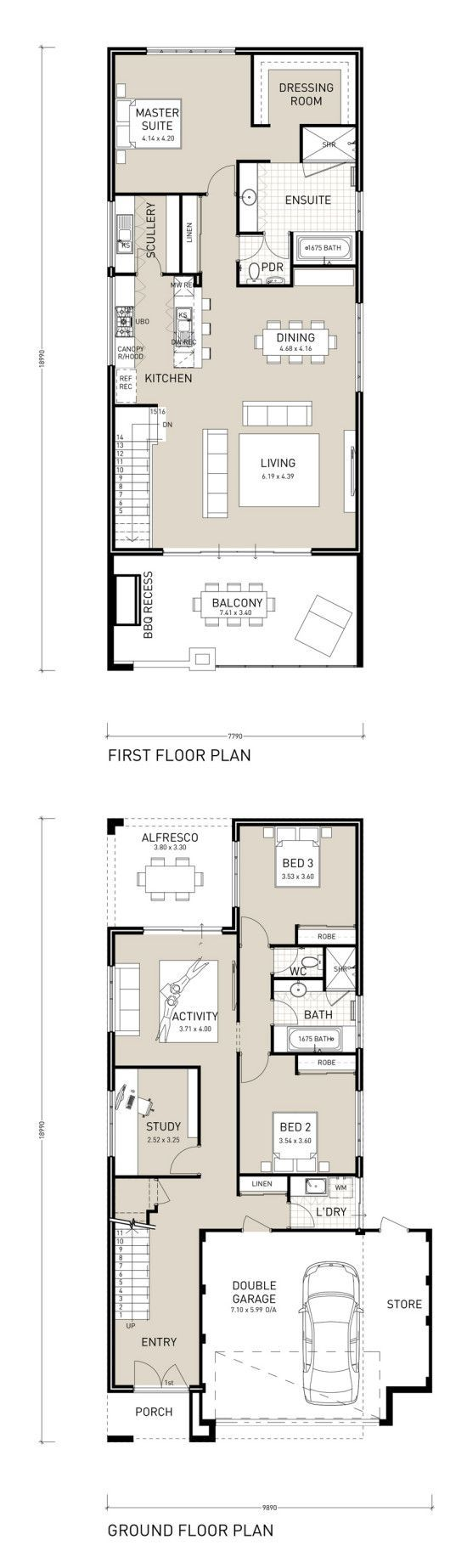Design For Living House Plans Two Storey House Plans House Plans Narrow Lot House Plans