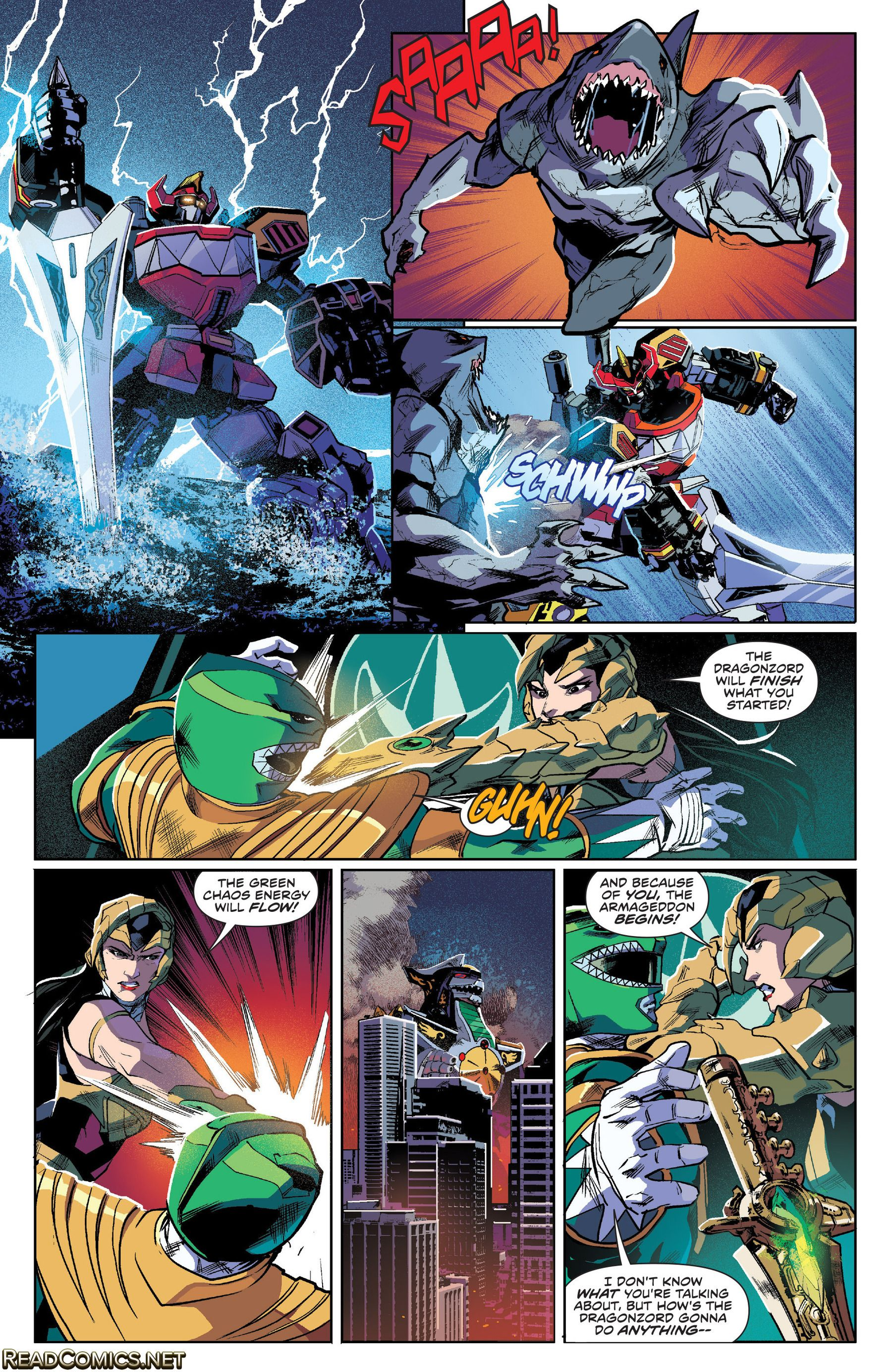 Po po power ranger pages to color - Mighty Morphin Power Rangers 2016 4 Page 15