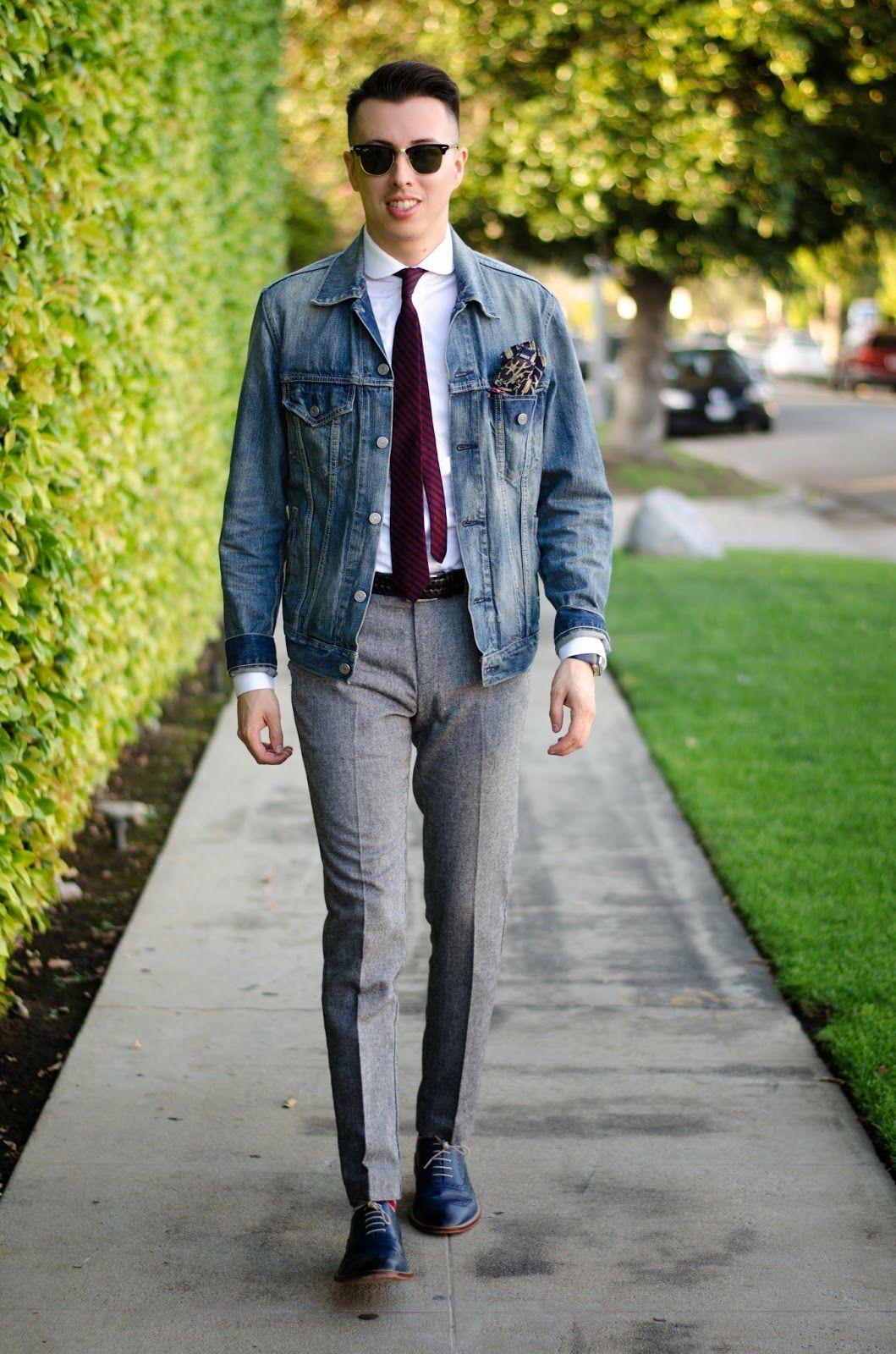 Mens white dress shirt, Grey dress pants