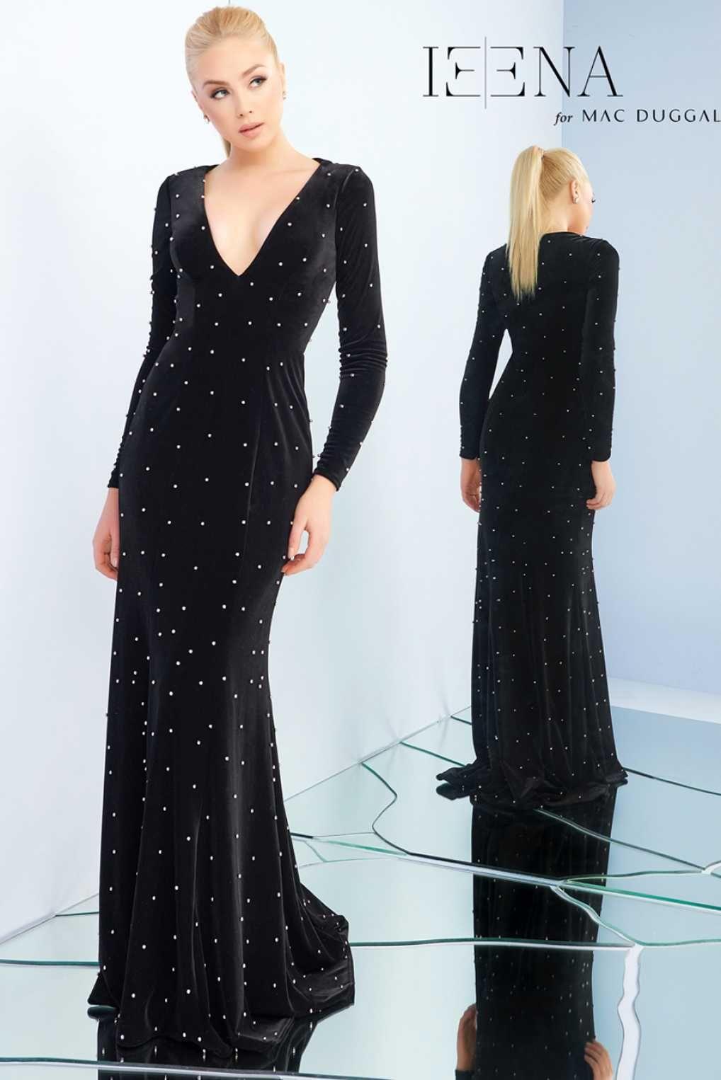 Элегантное платье в пол с декольте mac duggal магазинплатьев
