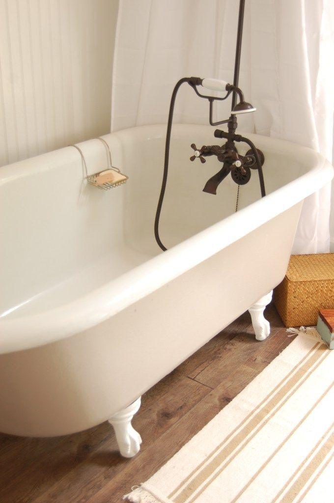 Pin By Susie Slifer On Rippeon Homestead Cast Iron Tub Refinish Tub Refinishing Bathroom Tub
