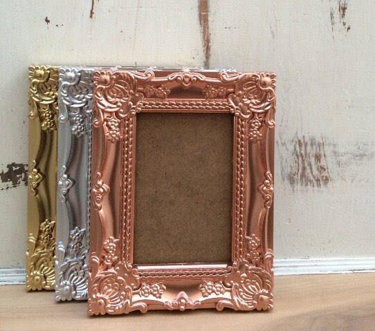 4x6, Ornate Baroque Picture Frame, Vintage Style, Metal, Metallic ...