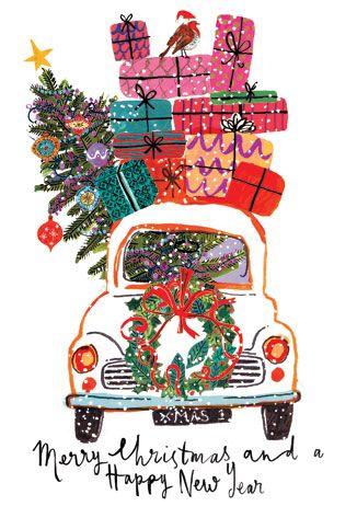 Merry Christmas And Happy New Year Cards tarjetas navideñas